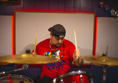 Ricky playing the drums